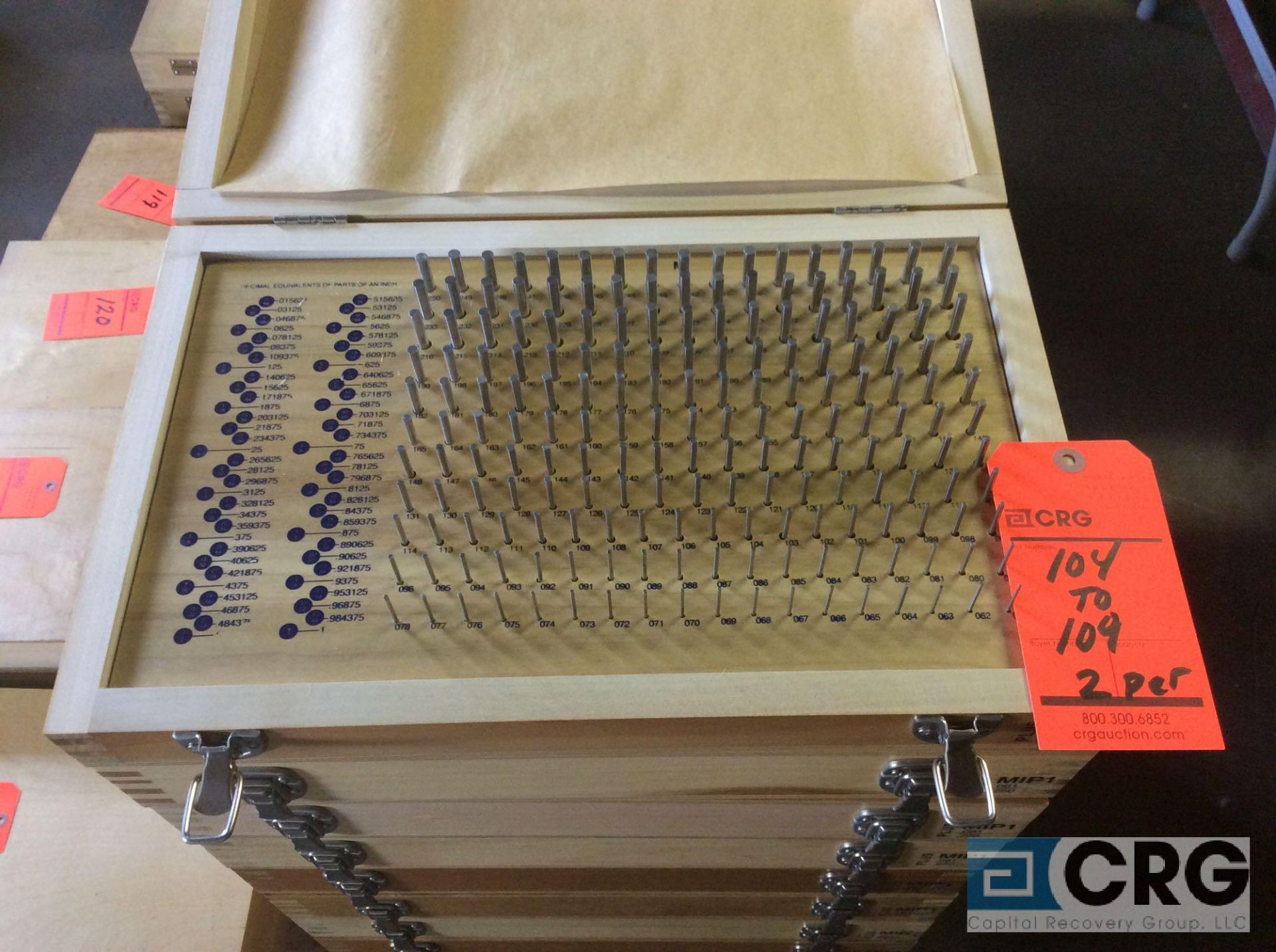 Lot 109 - Lot of (2) Pin Gage Plus .061 - .250 sets