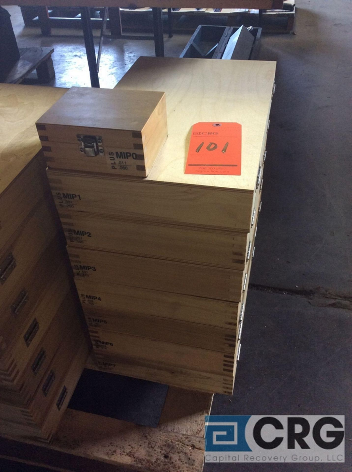 Lot 101 - (1) complete Pin Gage Plus set, from .011 - 1.000 (8 boxes in total)