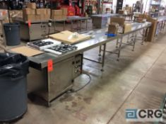 NEW 2018 Chasing mn SDH-6(0.75+6) 20 foot stainless steel conveyor table, 250mm / 9 7/8 inch belt