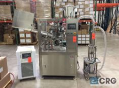 Rotary hi-speed Tube Filler w/ PLC controls, chiller & portable filling machine subject to piecemeal