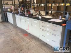 Lot of laboratory cabinets and counter tops