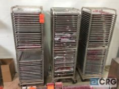 Lot of (8) portable tray racks with baking trays
