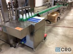 Chasing SLH-120 belt conveyor, 4 inch wide continuous loop, stainless steel constructed, 220 volt, 1