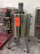 Stainless steel heated lipstick kettle with agitator and controls