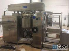 2018 Shanghai Chengxing/Chasing DSZL-200AEO vacuum homogenizing mixer, 200L capacity steam