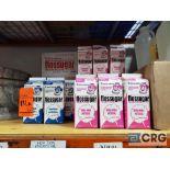 Lot of (56) cartons Flossugar cotton candy mix