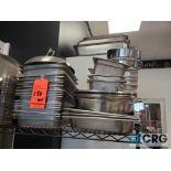 Lot of asst stainless steel pans