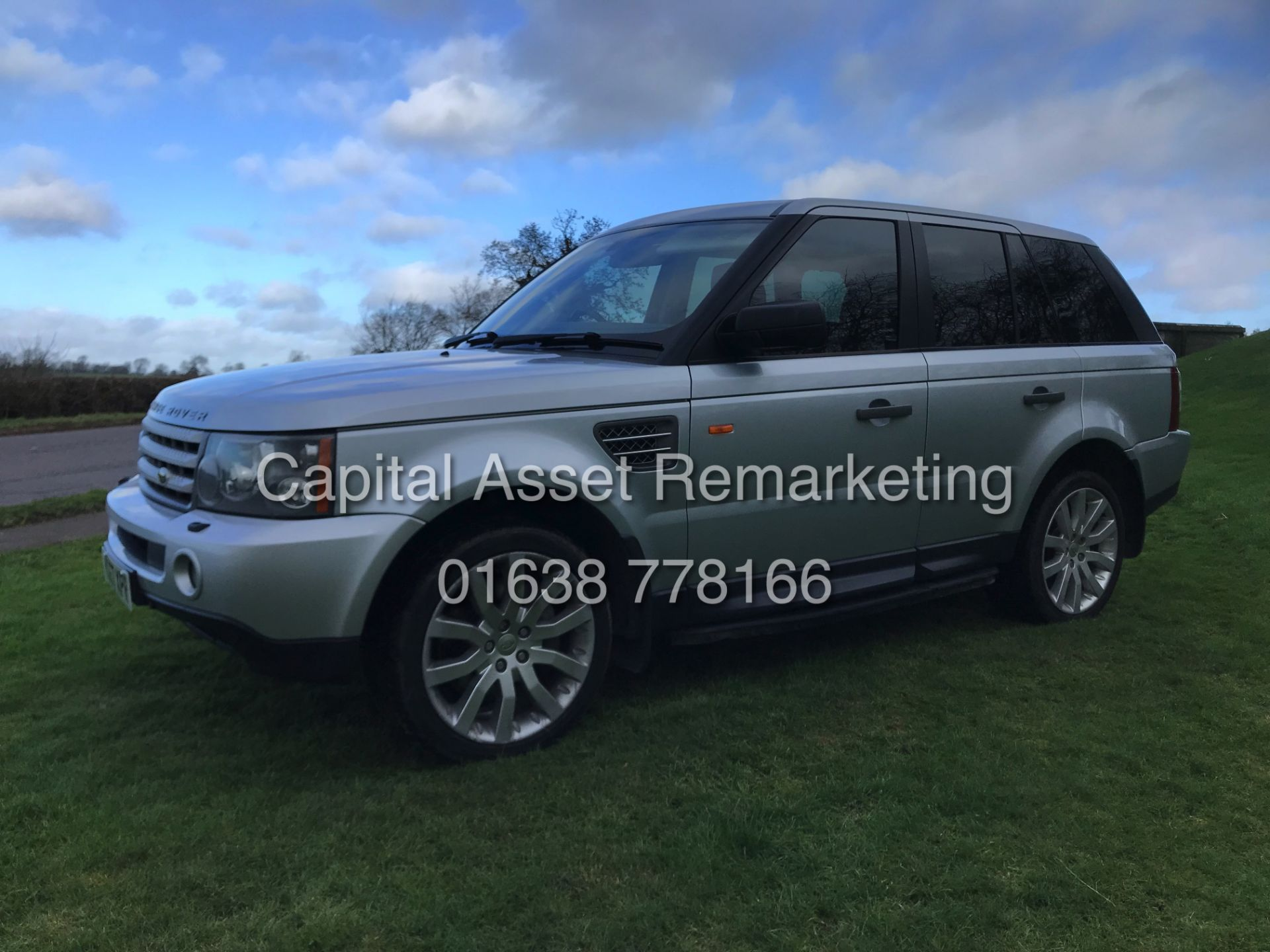 "Lot 6 - (ON SALE) RANGE ROVER SPORT ""HSE"" 3.6TDV8 AUTO (2008 MODEL) HUGE SPEC - SAT NAV - LEATHER"