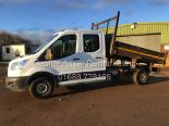 "Lot 25 - FORD TRANSIT 2.2TDCI T350 ""125PSI* TIPPER (16 REG-NEW SHAPE) 1 OWNER -DOUBLE CAB / 4 DOOR / 7 SEATER"