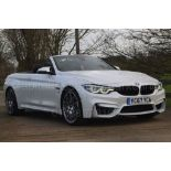 Lot 2A - (ON SALE) BMW M4 CONVERTIBLE *COMPETITION PACKAGE* (2018 MODEL) 'M DCT AUTO - LEATHER - SAT NAV'