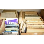 A large collection of bound and sheet music, and music related volumes (5 boxes)