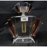 An Art Deco style glass scent bottle, 22 cm high Modern