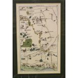 Fifteen small Wallis county maps, mostly coloured, and eleven small town/country maps, all