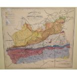 Surrey. A coloured map, Published for the Holmesdale Natural History Club, Ryegate, a Geological map