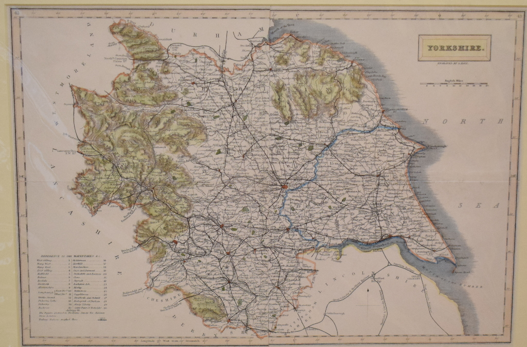 Lot 85 - The German Ocean. A coloured map, An Accurate Map of the East Part of England with the Parts of
