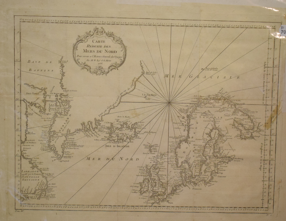 Lot 83 - Indian Ocean. A Bellin map, Carte De L'Ocean Oriental Ou Mer Des Indes, mounted, 38.5 x 51 cm, three