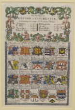 Lot 90 - Road Maps. Two coloured title pages, Oxford to Chichester (Cambridge College arms), and Oxford to