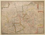 Lot 18 - Surrey. A tinted map, Surriae Comitatus Continens In Seoppida Mercatoria VII, 38.5 x 49 cm Centre