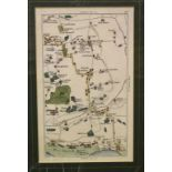 Lot 109 - Fifteen small Wallis county maps, mostly coloured, and eleven small town/country maps, all