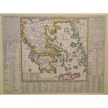 Lot 82 - Greece. An Henri Chatelain coloured map, Carte Historique Et Georaphique De L'Ancienne Grece Avec