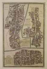 Lot 104 - Four Ward Plans, including Aldersgate/Bishopsgate/Bread Street & Cordwainers, all mounted, 34 x 22