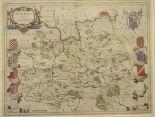 Lot 21 - Surrey. A tinted map, Surria Vernacule Surrey, 39 x 51 cm Centre fold