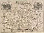 Lot 54 - Surrey. A John Speed map, Surrey Described And Divided Into Hundreds, with vignettes of Richmont and