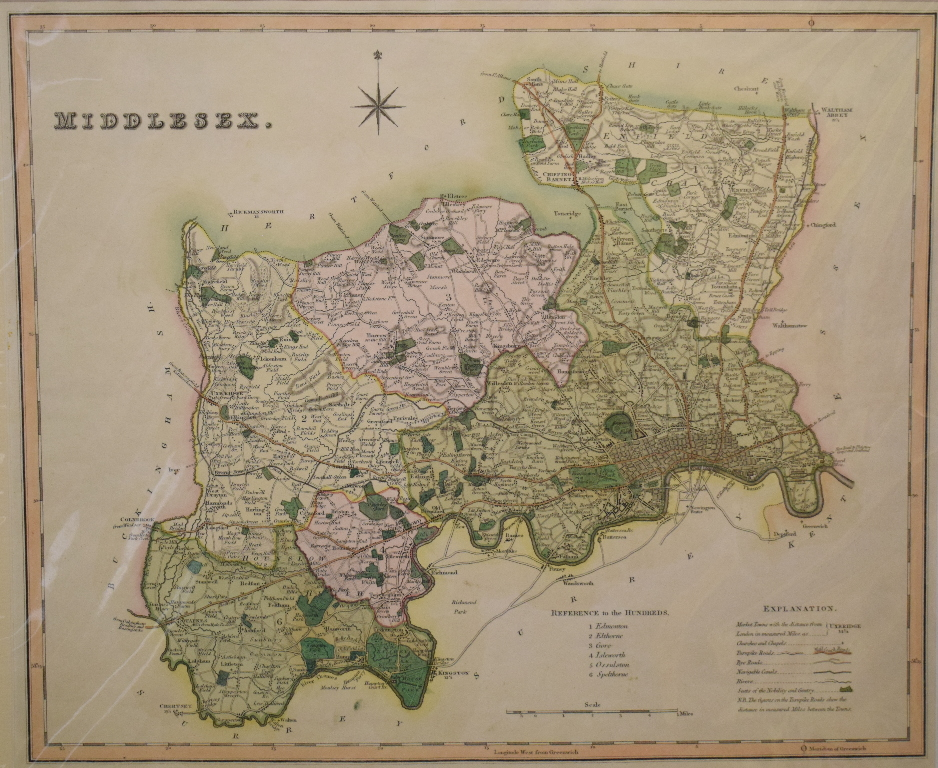 Lot 87 - Sussex. A John Cary map, A Map of Sussex from the best Authorities, mounted, 36.5 x 52.5 cm, another