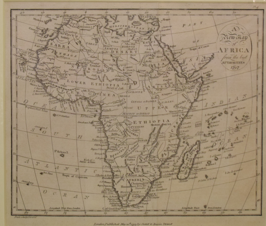 Lot 73 - Africa. A Thomas Bowen tinted map, A New and Accurate Map of Africa, Drawn from the best