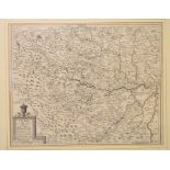 Lot 69 - Yorkshire. A Mapp of 20 Miles round Leedes by Order of Mr John Boulter, 31 x 39 cm