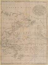 Lot 34 - The Pacific. An Emanuel Bowen chart, A New & Accurate Chart of the Discoveries made by the late Capt