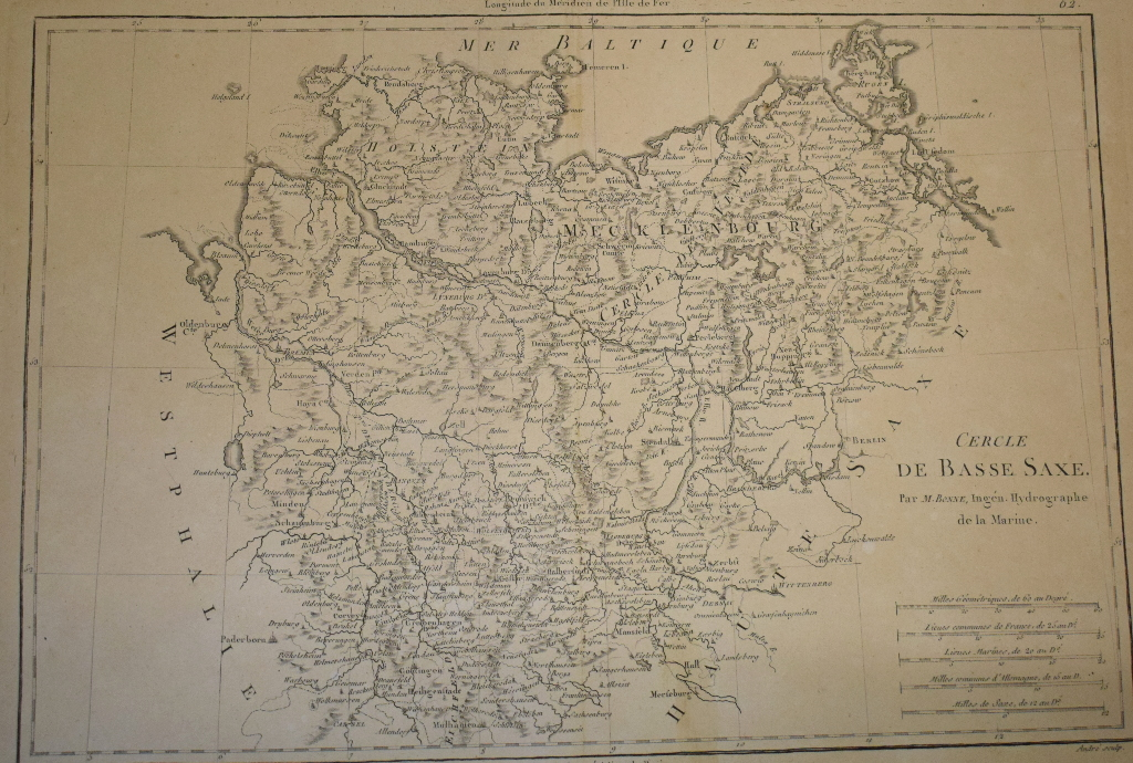 Lot 102 - A large group of French maps, including Bellin, Bonne, Laurent, and others, all unframed (box)
