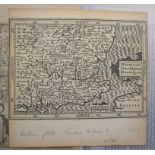 Lot 111 - An album of small maps, 17th century onwards, some coloured, several with annotations, including