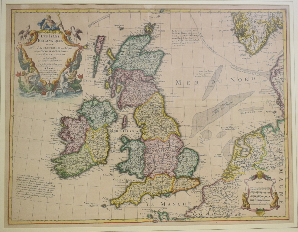 Lot 10 - British Isles. A Covens and Mortier's coloured map based on the 1702 De L'Isle map, Les Isles
