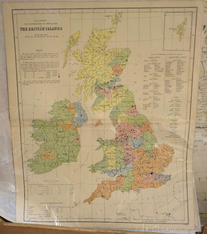 Lot 33 - British Isles. Sixty four maps from the 1st County Series, mechanically coloured, including the Isle