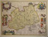 Lot 55 - Surrey. A Petri Schenk Gerardi Valk coloured map, Surria Vernacule Surrey, mounted, 39 x 50.5 cm