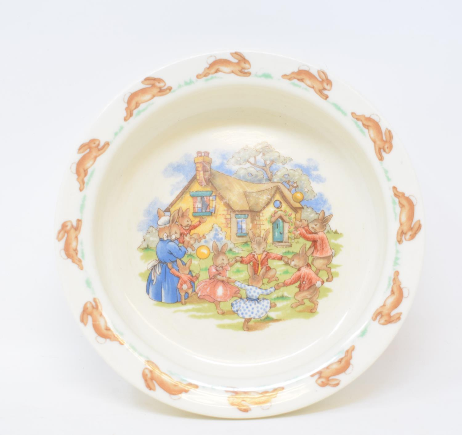 Lot 30 - A Royal Doulton Bunnykins bowl, a late Victorian small doll, other similar items, assorted ceramics,