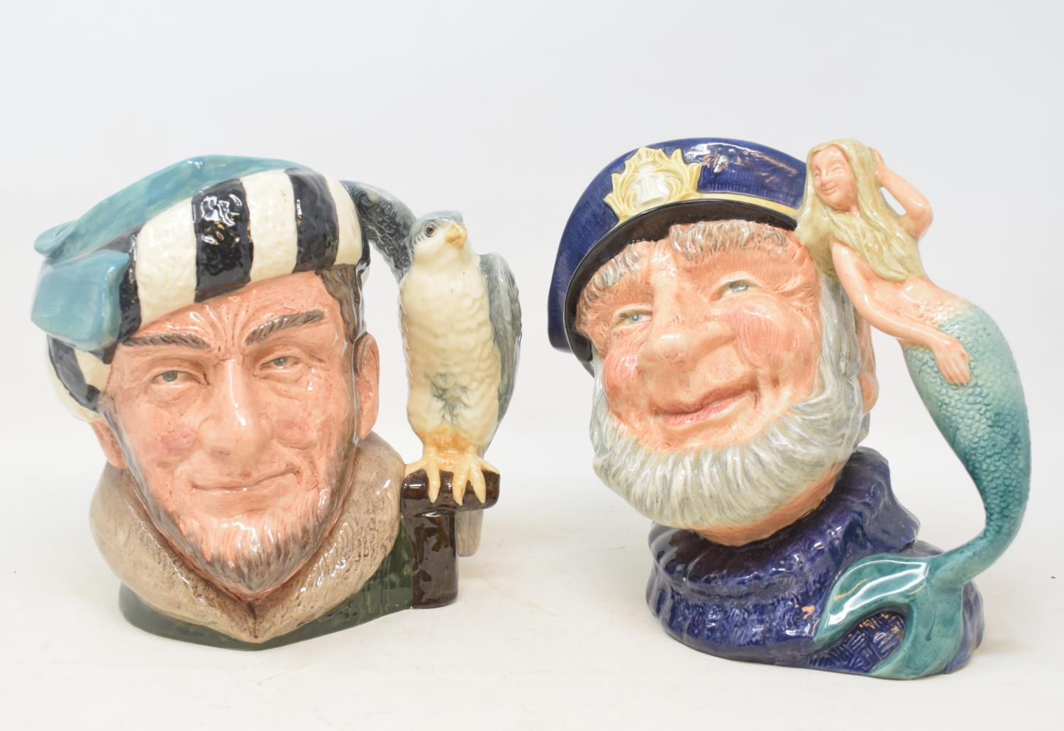 Lot 27 - Assorted Royal Doulton character jugs, figures, commemorative and other ceramics, a blue glass