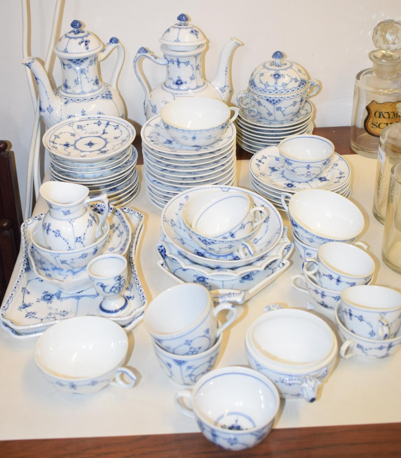 Lot 1 - A Royal Copenhagen part tea and coffee service, and other similar items (qty)