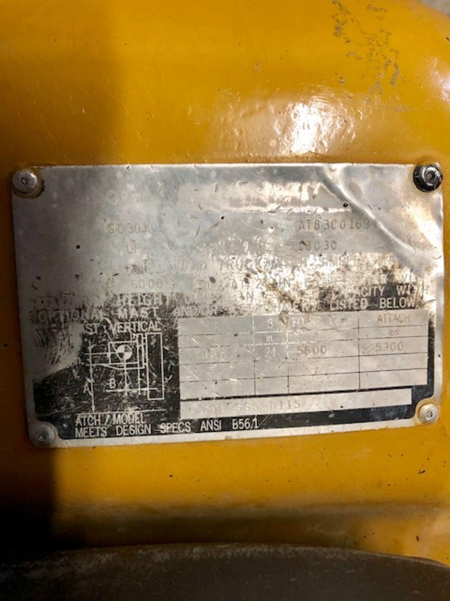 Lot 71 - Cat GC30k forklift