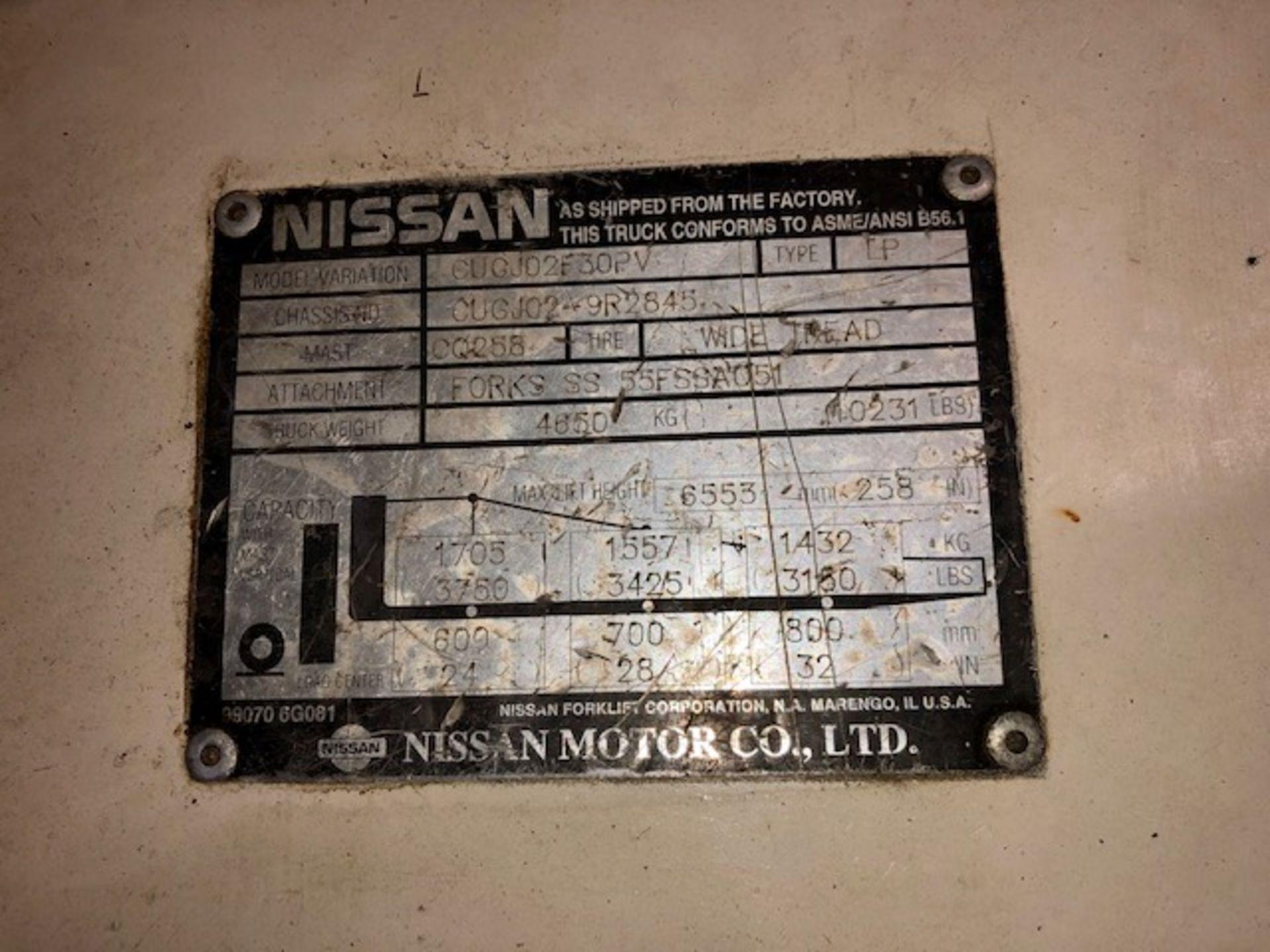 Lot 28 - Nissan F30PV forklift