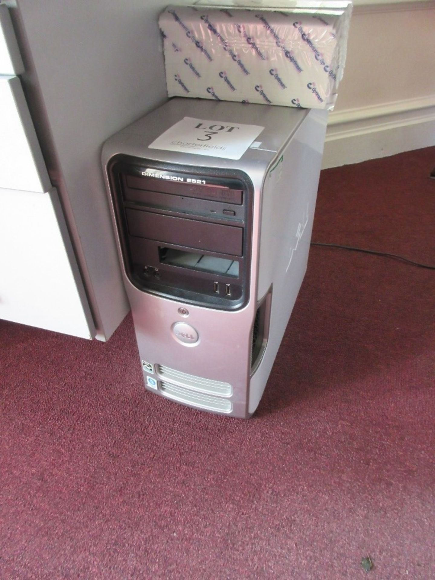 Lot 3 - Dell Dimension E521 PC tower, AMD ATHLON, 4GB Memory, 320GB Hard Drive (all data and software erased