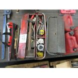 Lot 163 - Two tool boxes complete with hand tools including 2 - torque wrenches and record clamp and jerry