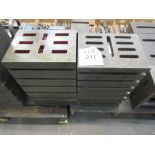 Lot 213 - 2 - slotted blocks