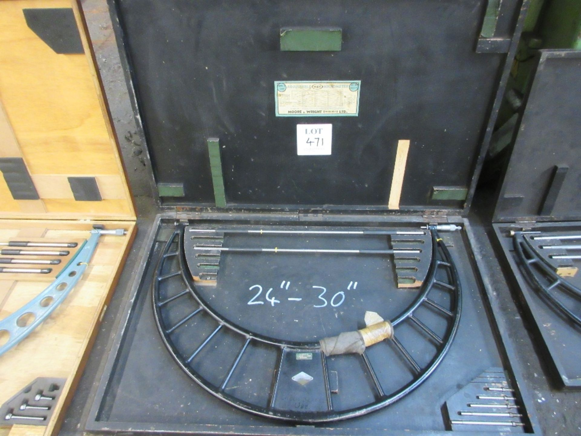 """Lot 471 - Moore & Wright 24"""" - 30"""" combination micrometer"""