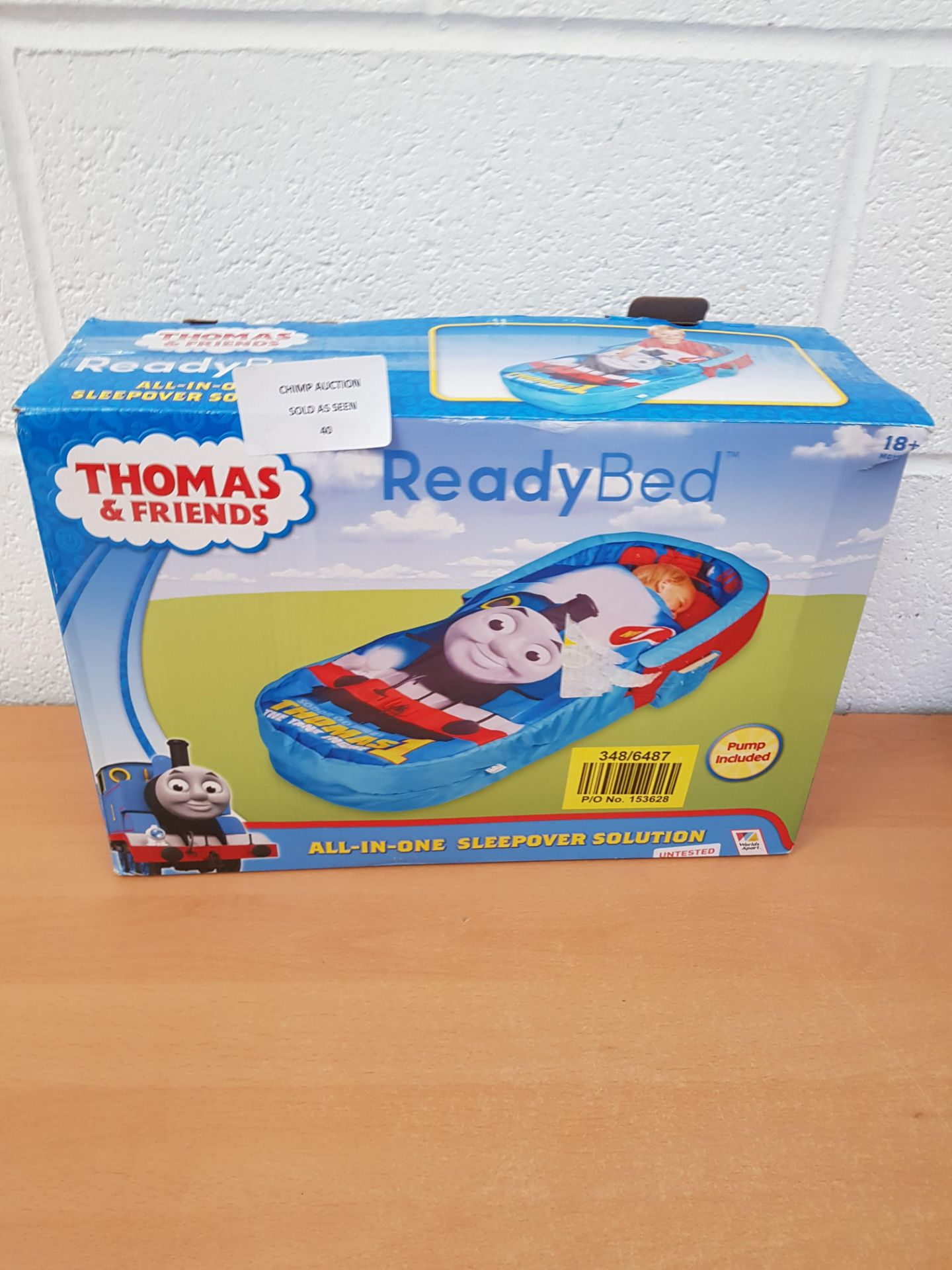 Lot 40 - Thomas & Friends Ready Bed all in one Sleepover solution