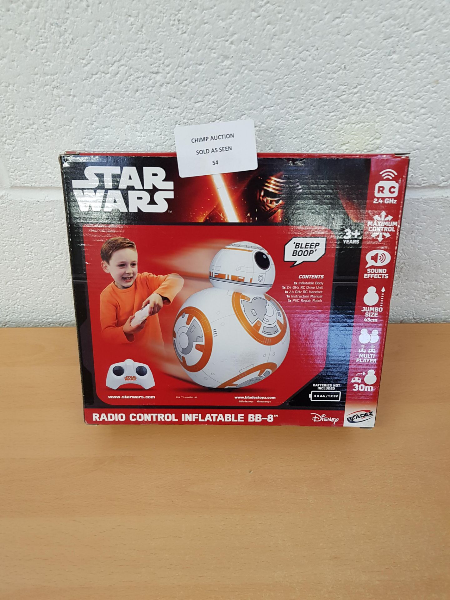 Lot 54 - Star Wars Remote controlled BB-8