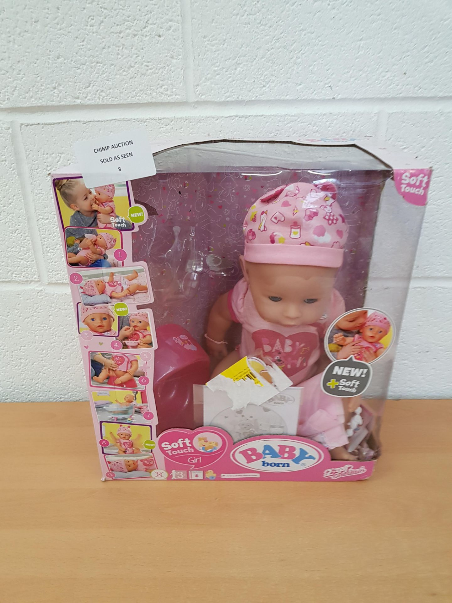 Lot 8 - Baby Born Doll interactive playset