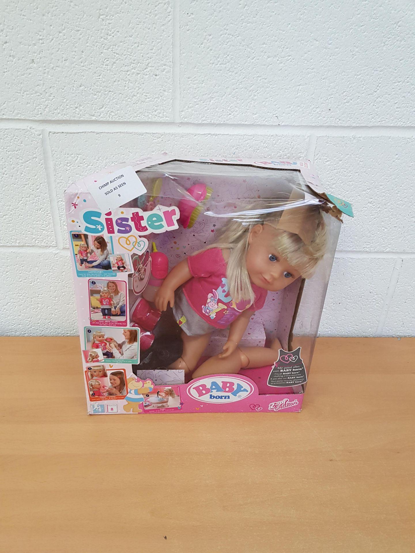 Lot 9 - Baby Born Doll interactive playset