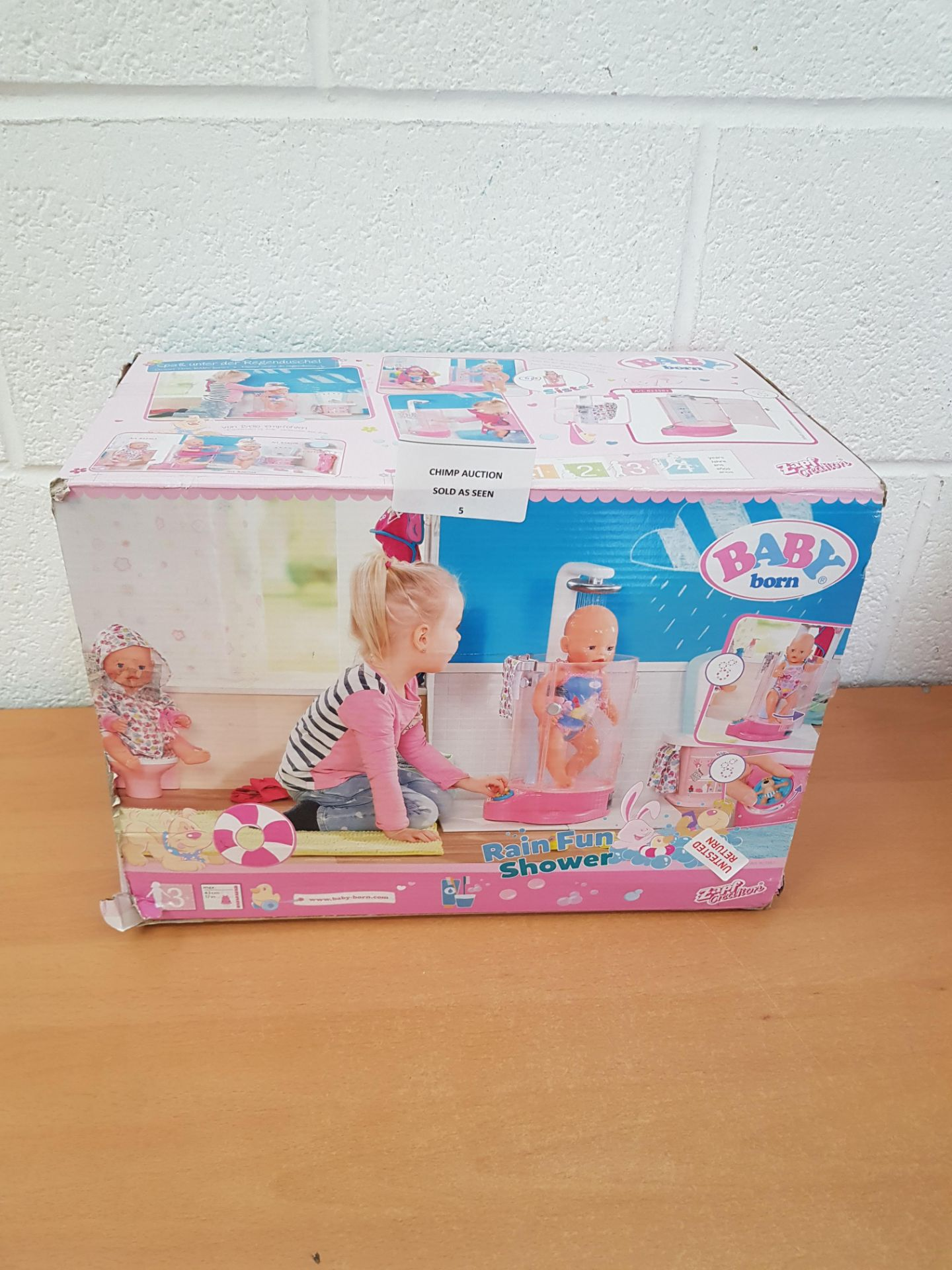 Lot 5 - Baby Born Rain Fun Shower doll Playset